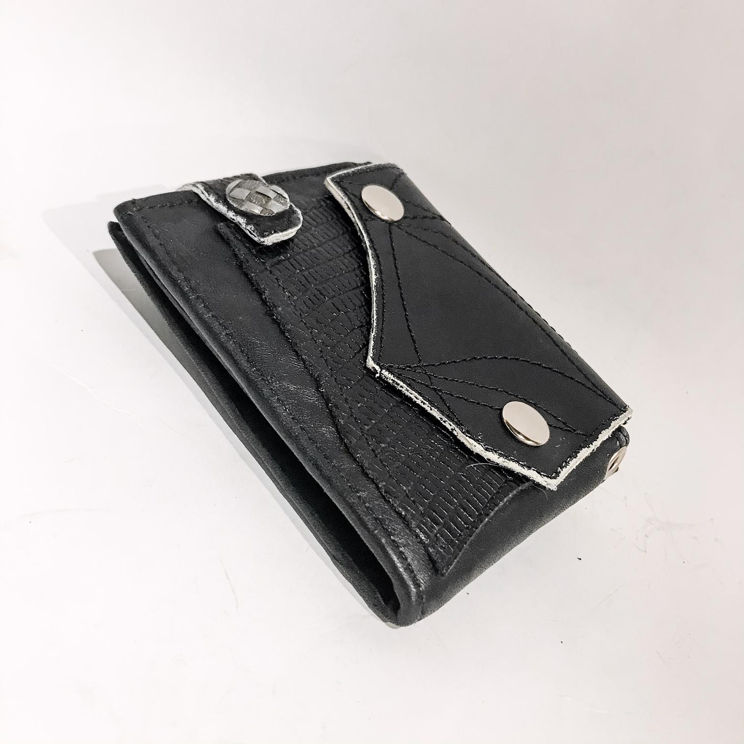 Blackstar GunMetal Leather Wallet EvilEve