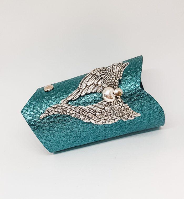 unique leather bracelet SilverDreams Azur EvilEve