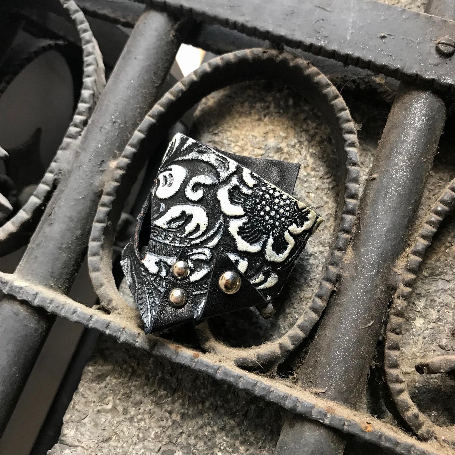 unique handmade leather bracelet Galaxy EvilEve