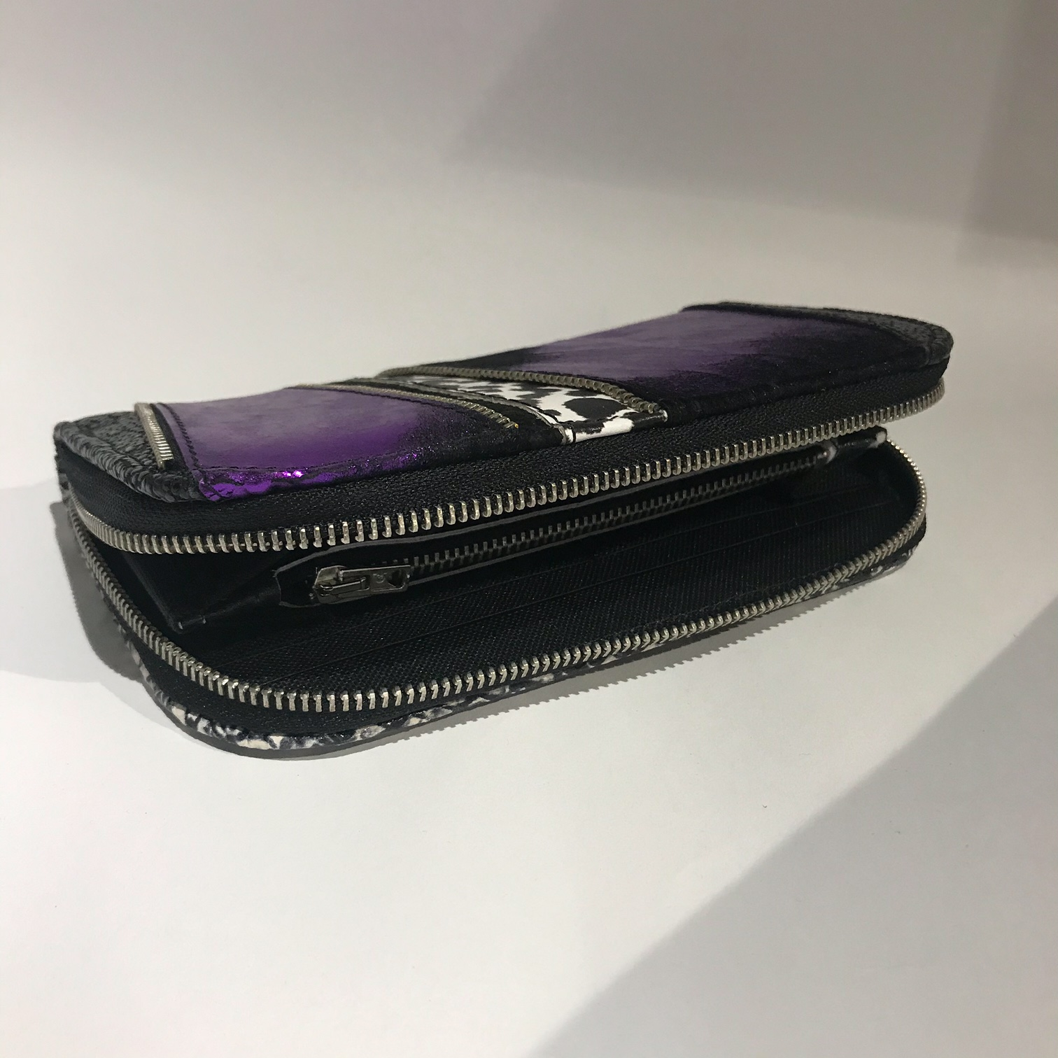 Purple Cavallino Chic Maxi Wallet EvilEve