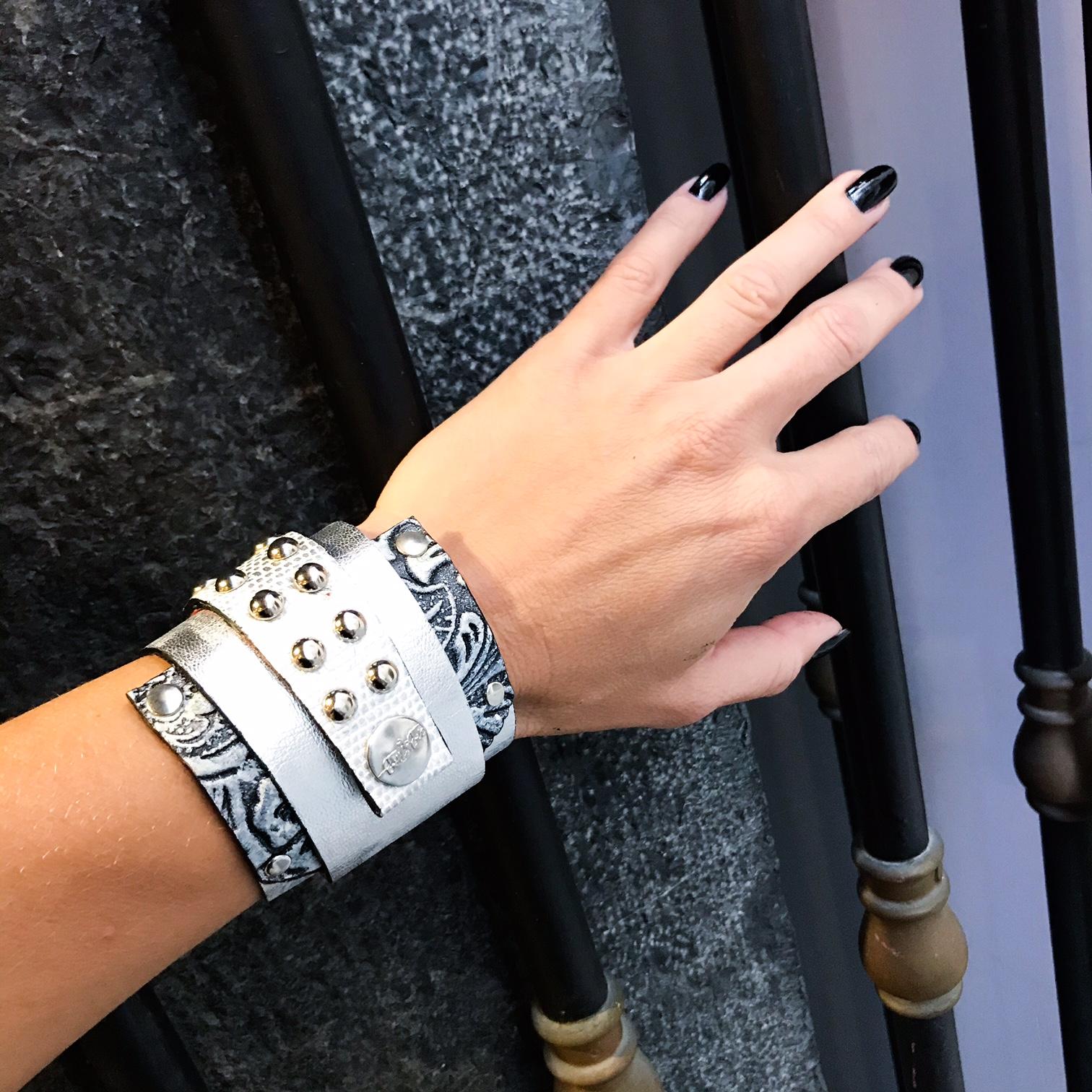 Vega wrap around leather bracelet EvilEve