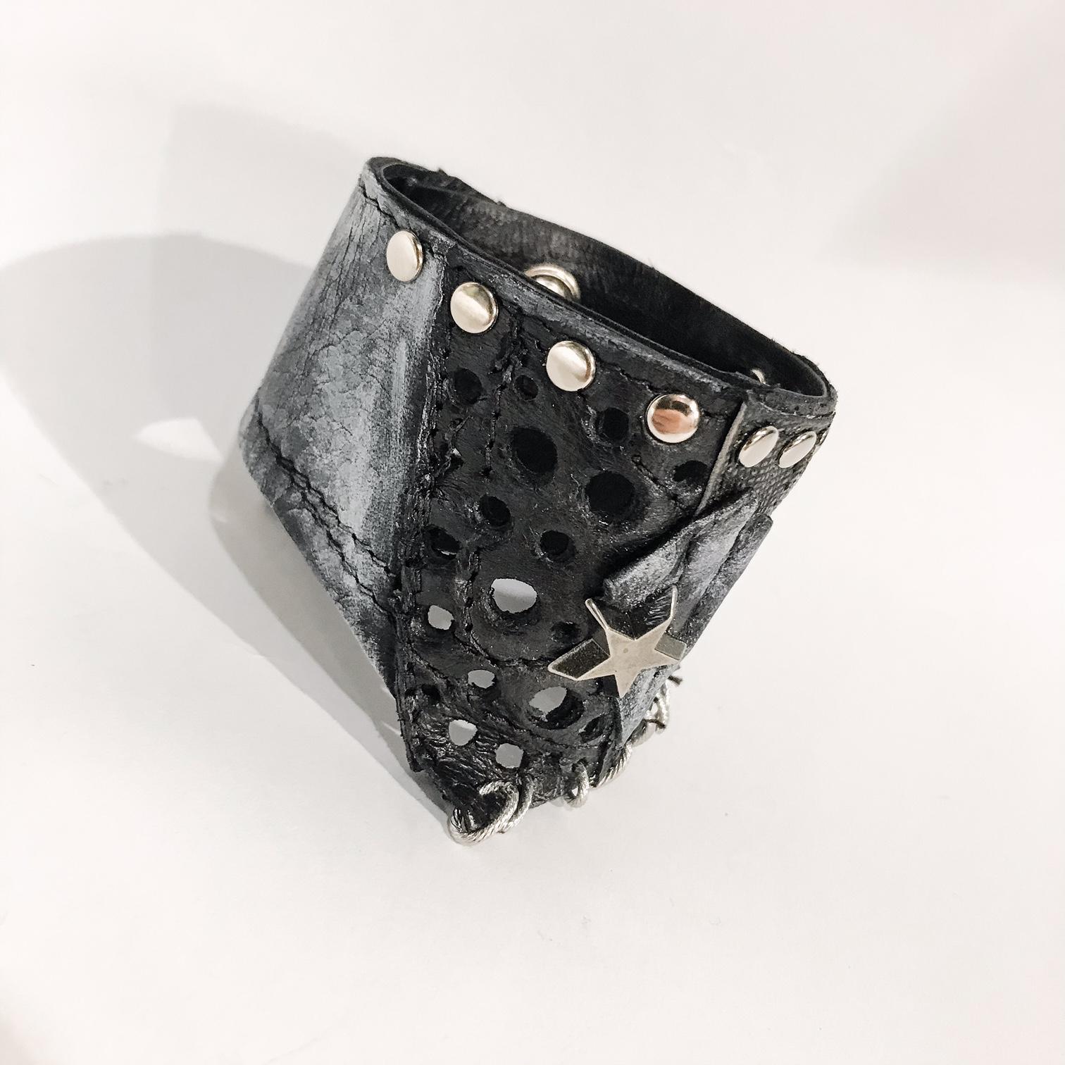 unique handmade leather bracelet Rockers Unisex EvilEve