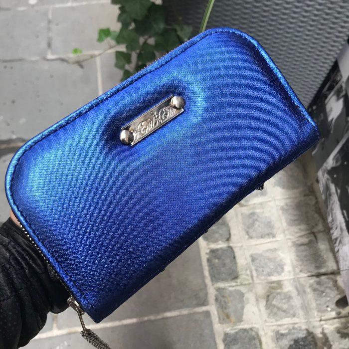 Santorini Blue Chic Maxi Wallet EvilEve