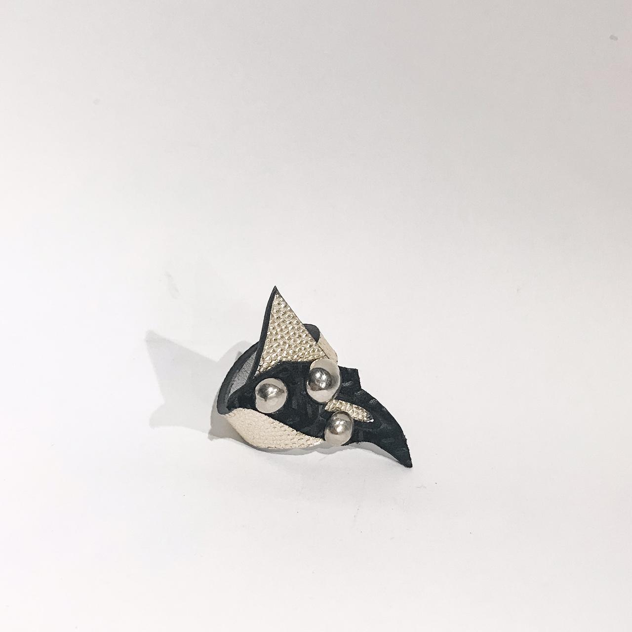 unique handmade leather ring Dream EvilEve