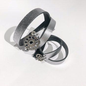 unique handmade leather bracelet SteamPunk Slim EvilEve