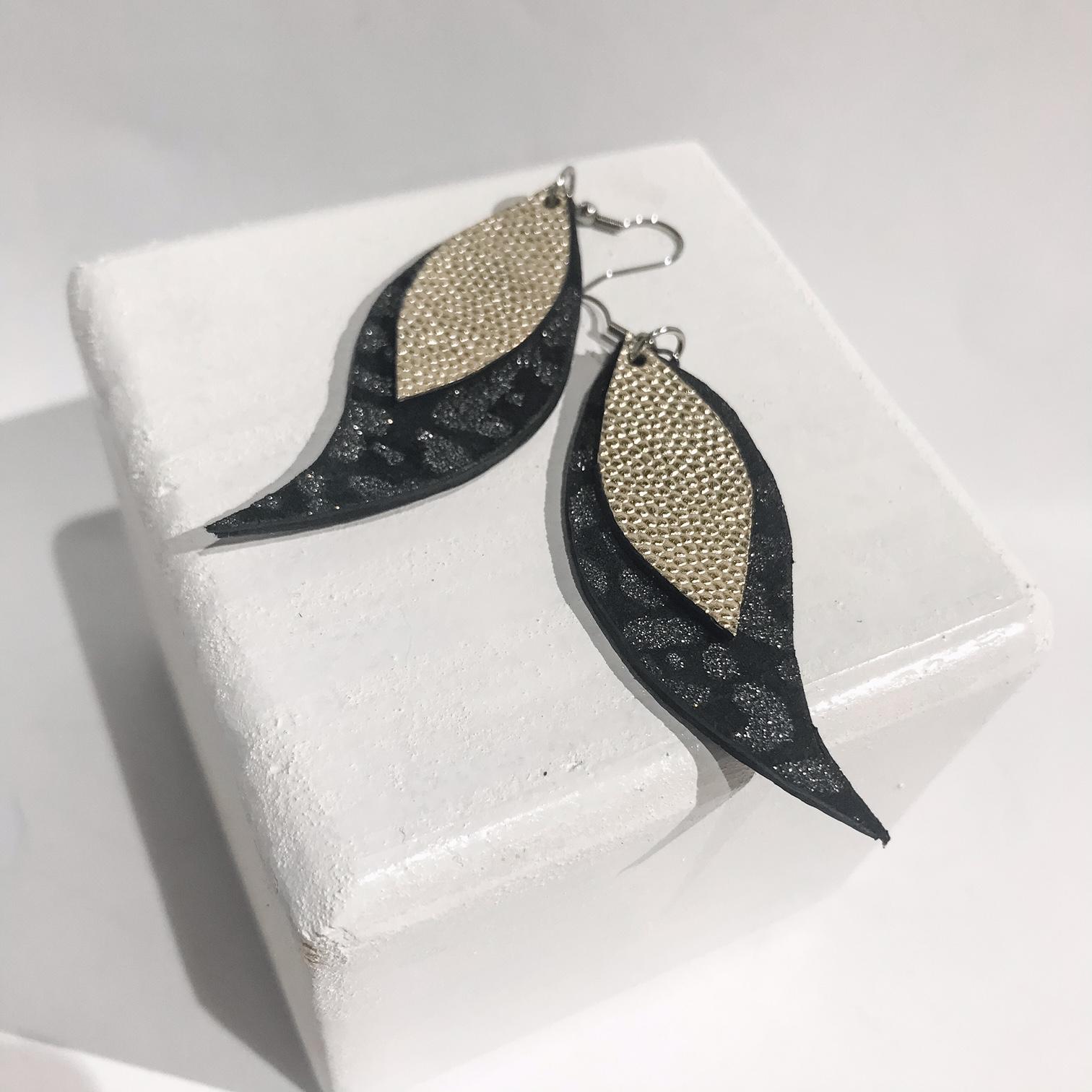 Earrings Spark Leaves EvilEve