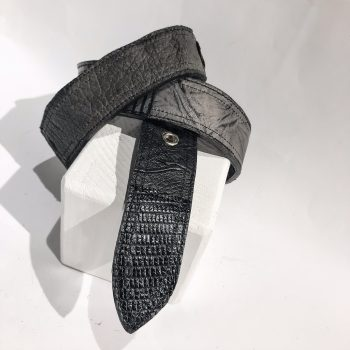 Double Face Leather belt Blue EvilEve