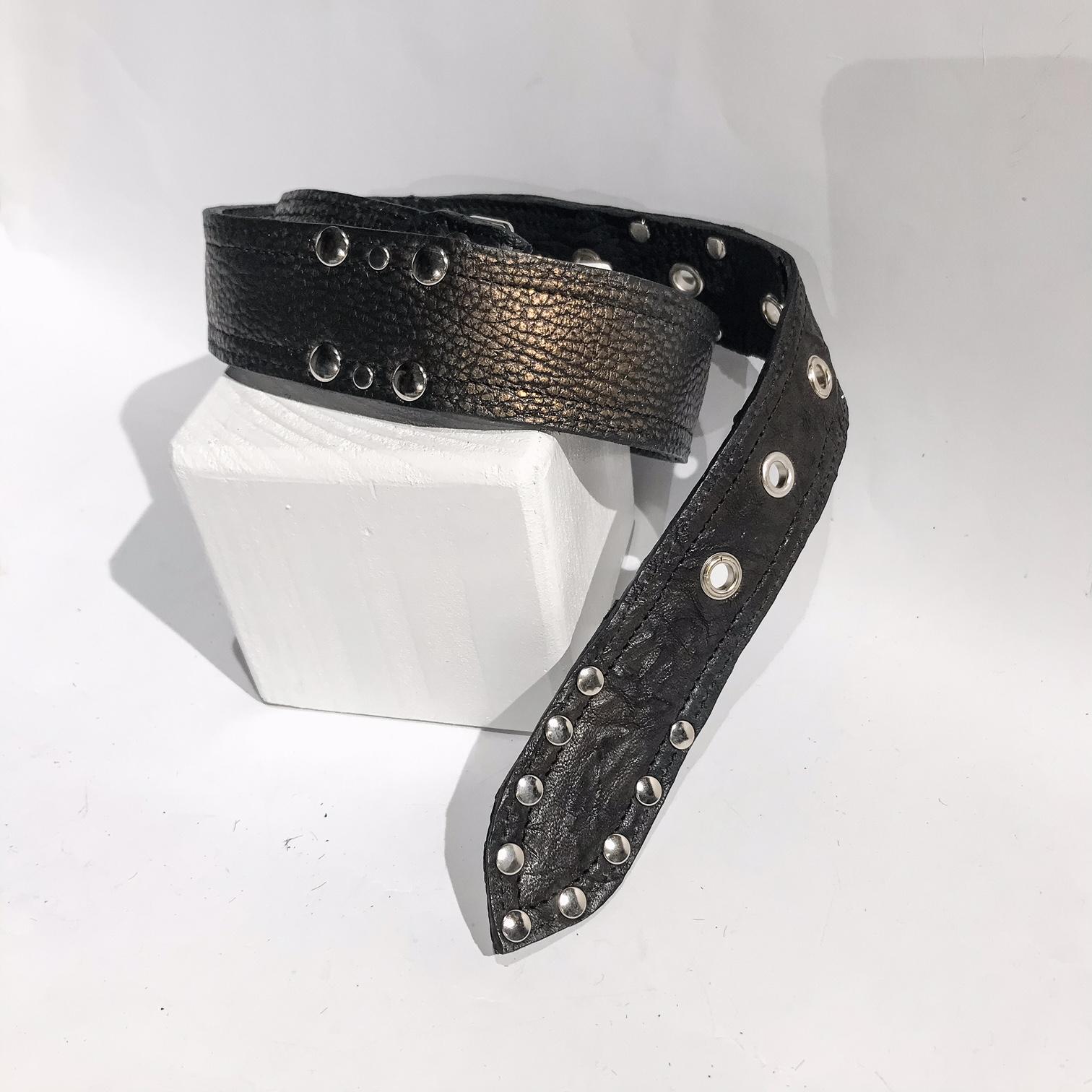 double face leather belt Rex EvilEve