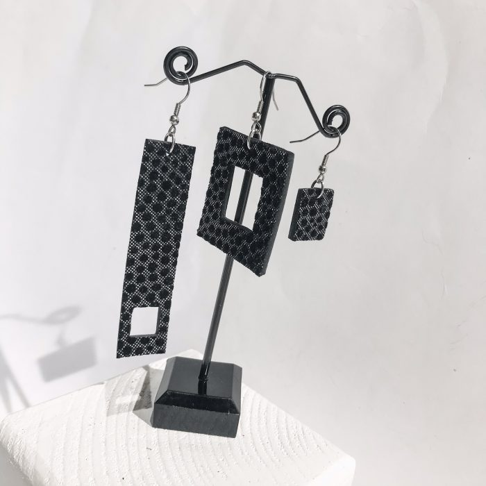 Threesome Chic drop earrings set EvilEve