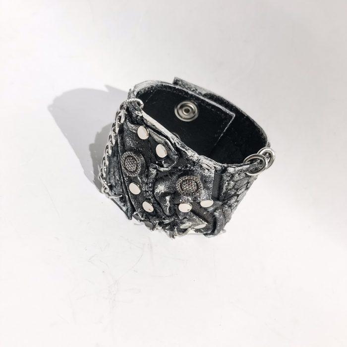 Bite Unisex leather bracelet EvilEve