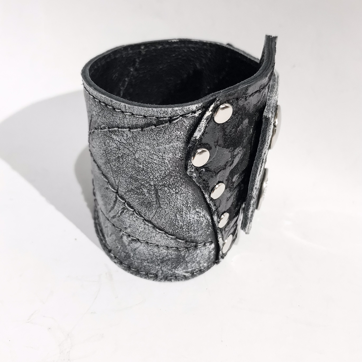 unique handmade leather bracelet Saturn Unisex EvilEve