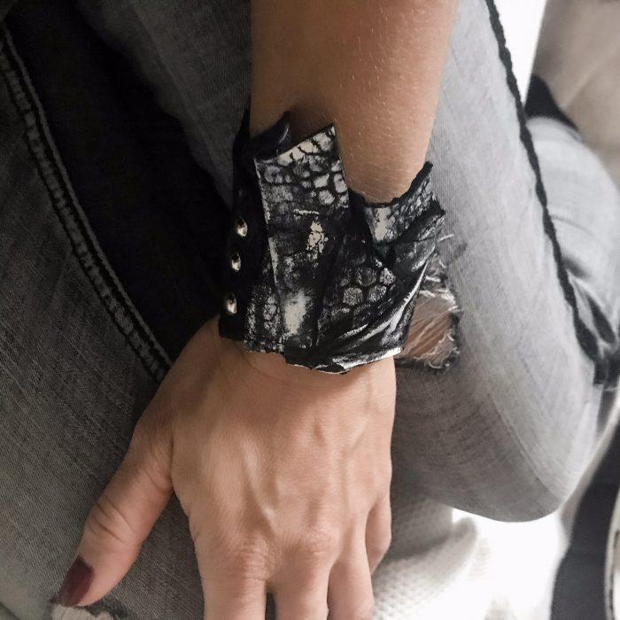 Edge Unisex leather bracelet EvilEve