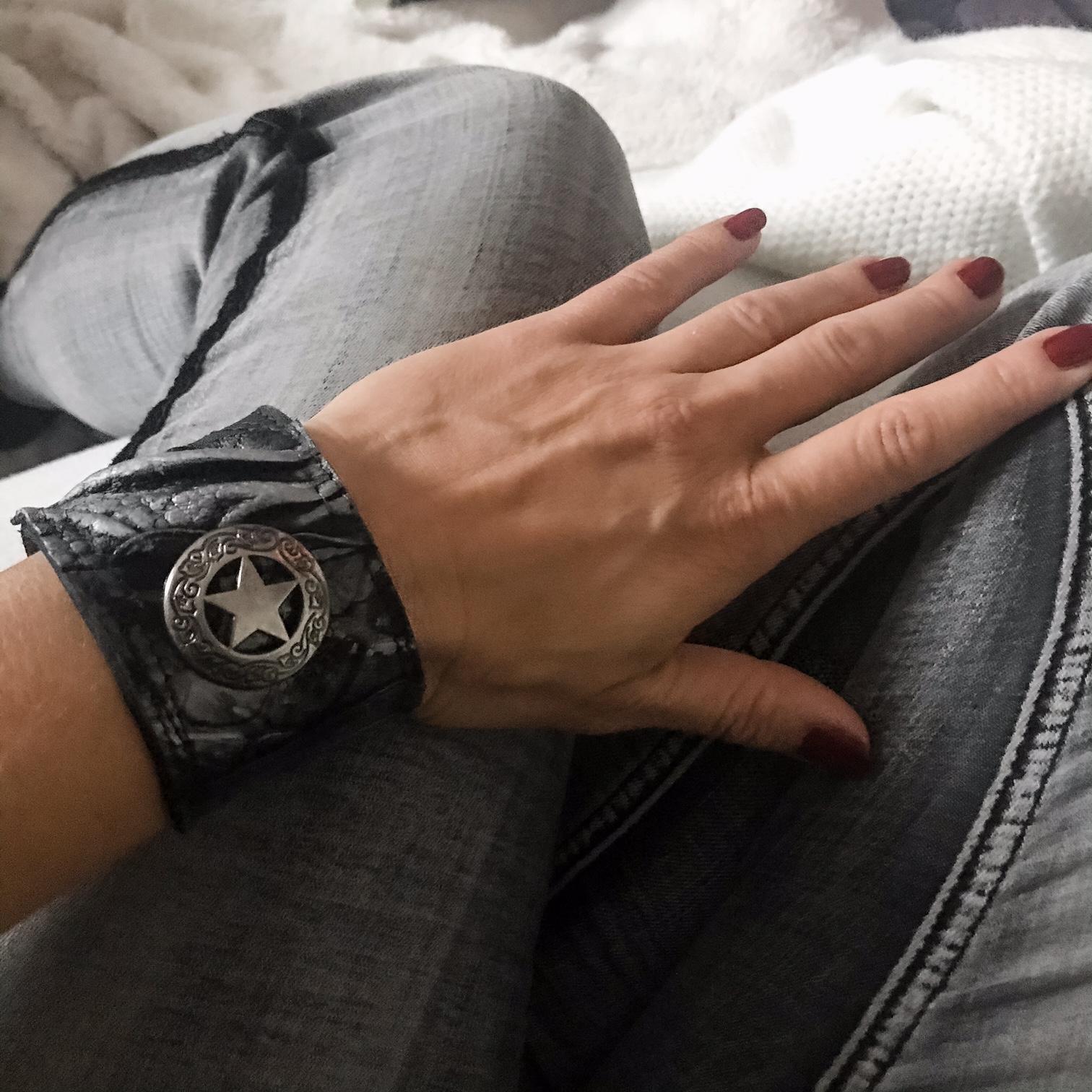 Stargazer Unisex leather bracelet EvilEve