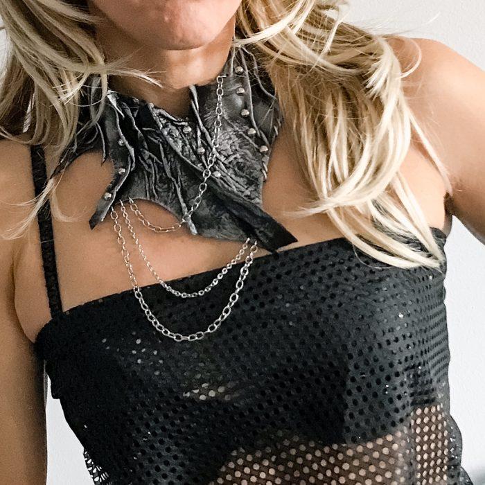Rockstar black necklace EvilEve