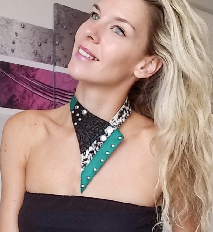 Triangle Green necklace EvilEve