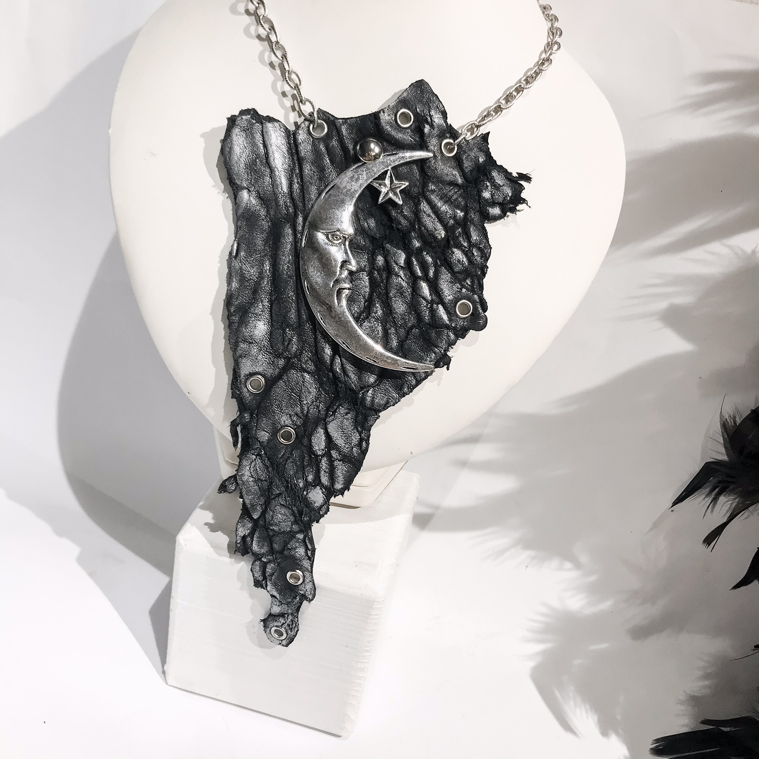 unique handmade necklace Galaxy EvilEve
