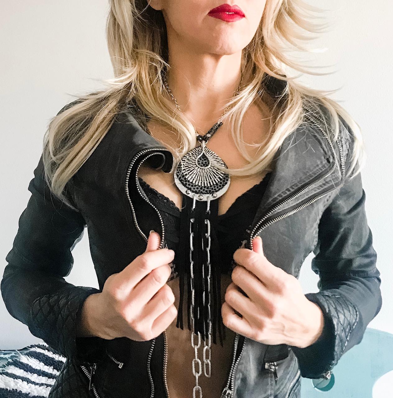 unique handmade necklace Universe EvilEve