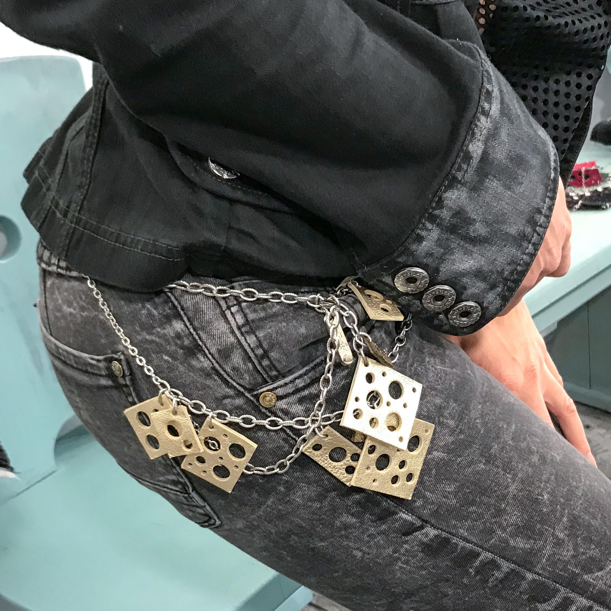Square Platinum Deluxe necklace EvilEve