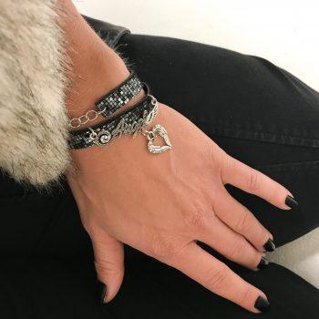 unique leather bracelet Angels EvilEve