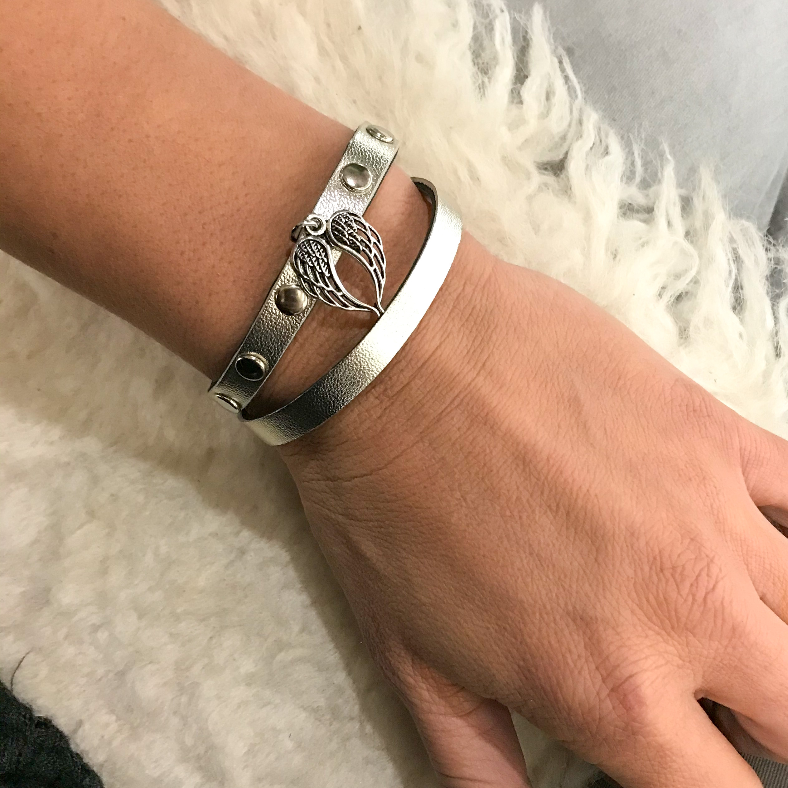 Lucky Angel platinum bracelet