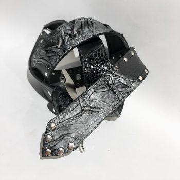 Double face leather belt StageGear EvilEve