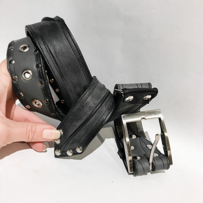 Double face leather belt StageGear EvilEve