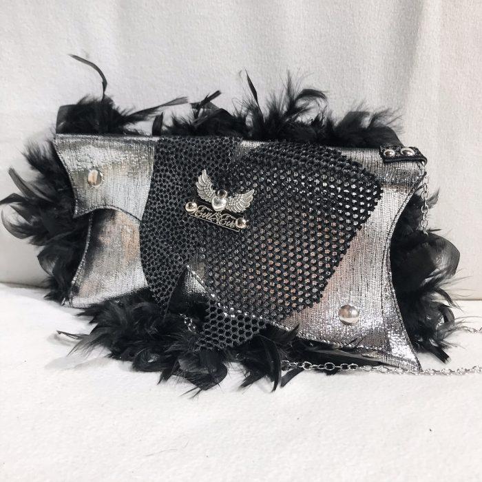 unique leather clutch MiniMe EvilEve