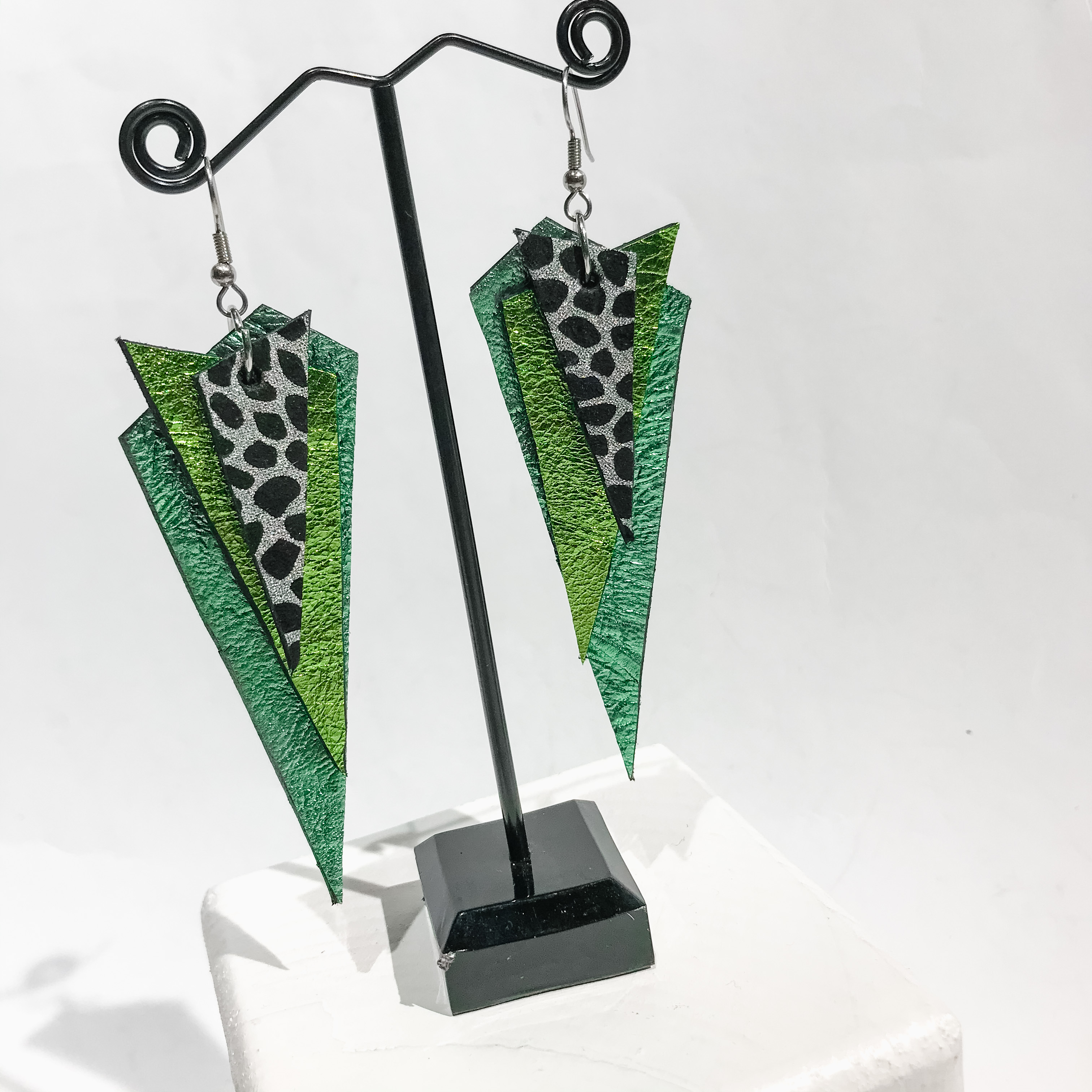 unique leather earrings Dream Big EvilEve