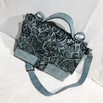 unique leather Messenger bag Sky Blue EvilEve