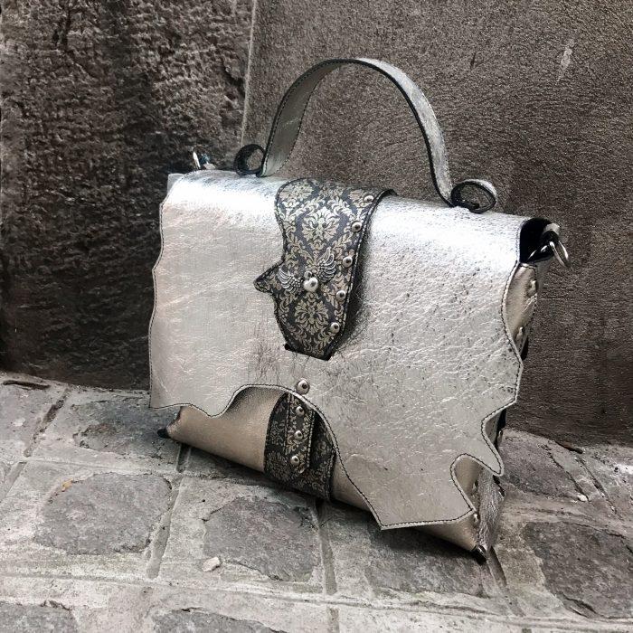 unique leather Messenger bag Star Platinum EvilEve
