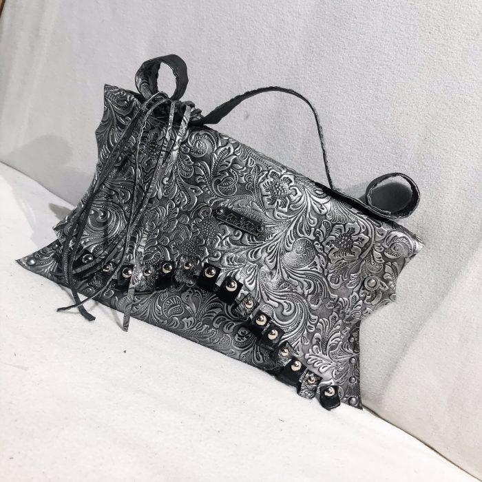 unique leather clutch Blackrose EvilEve