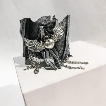 RockAngel Silver leather bracelet EvilEve