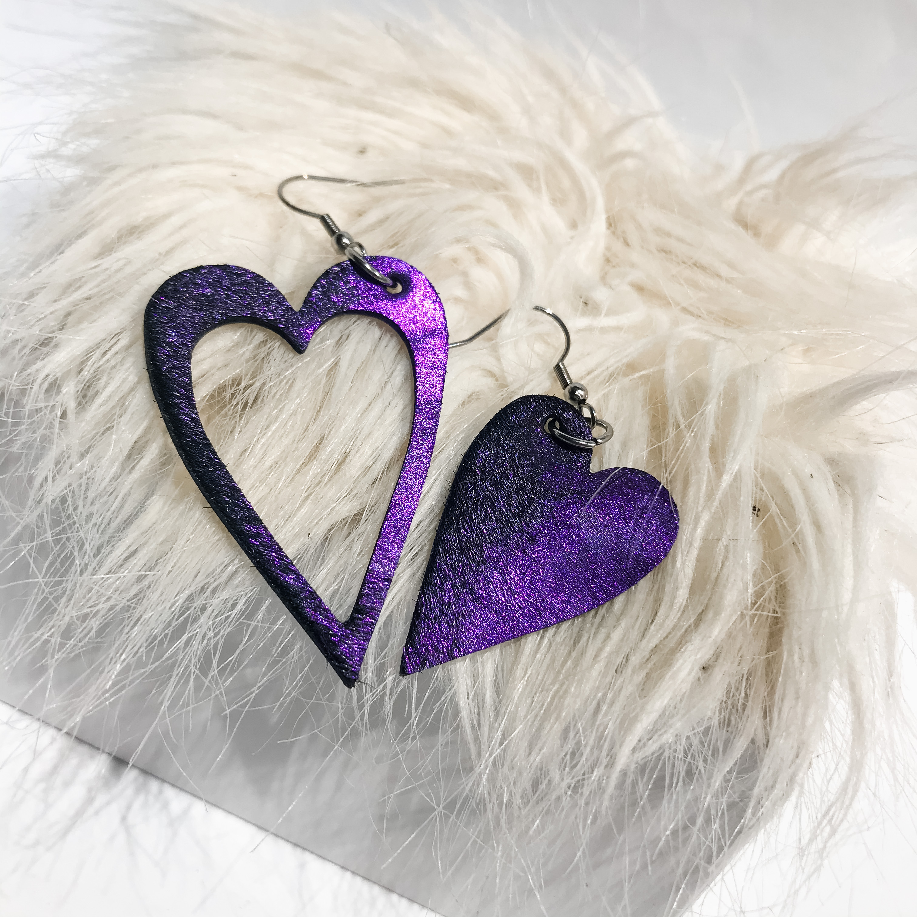 Hearts Cavallino Lila earrings EvilEve