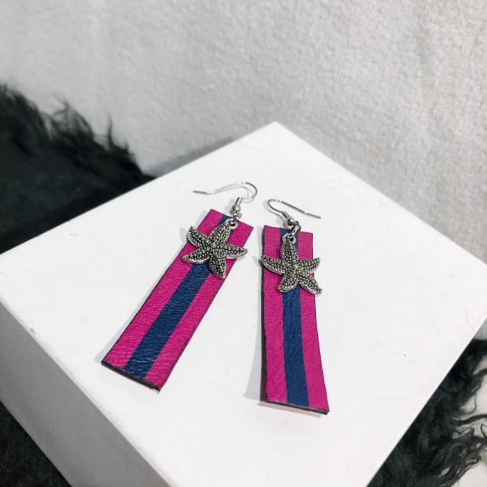 unique handmade leather earrings Summervibe EvilEve