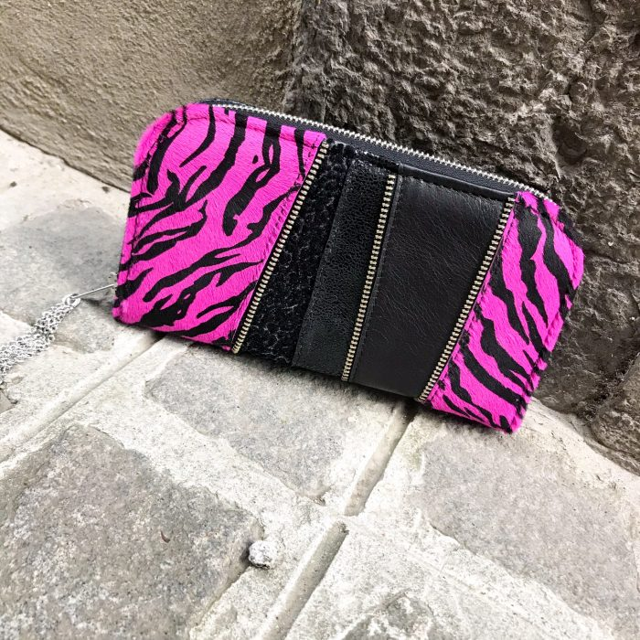 Pink star chic leather maxi wallet EvilEve