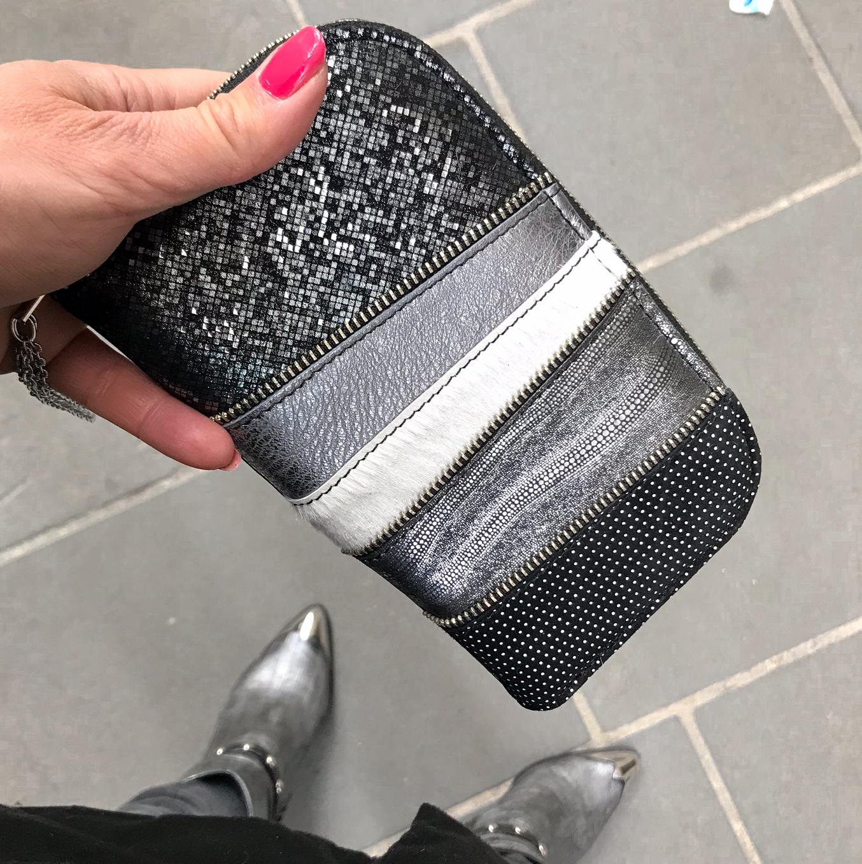 Grafitti shine chic leather maxi wallet EvilEve