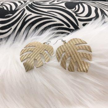 unique leather earrings Monstera Sandy EvilEve