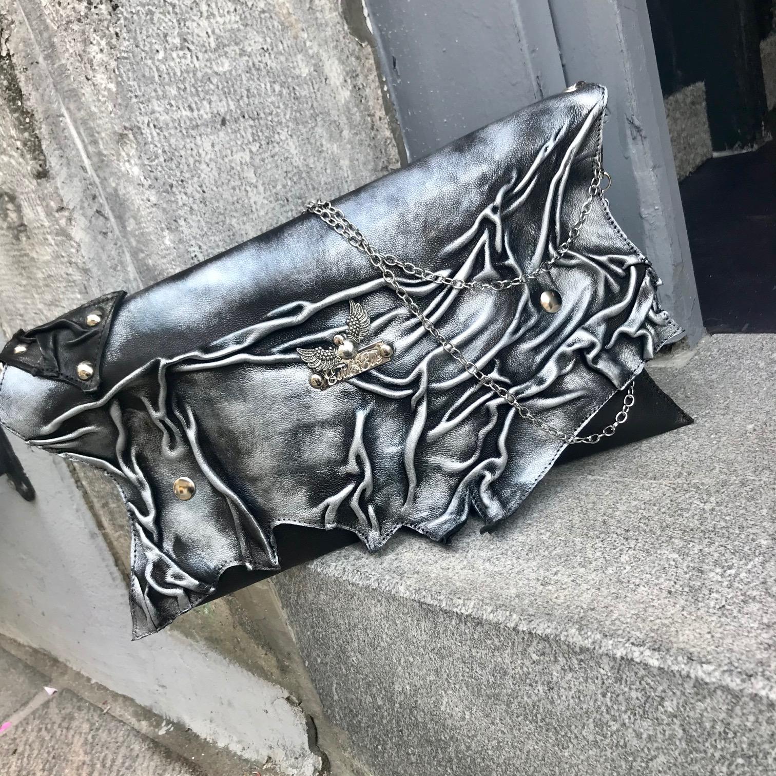 unique leather clutch Blackheart 4 EvilEve