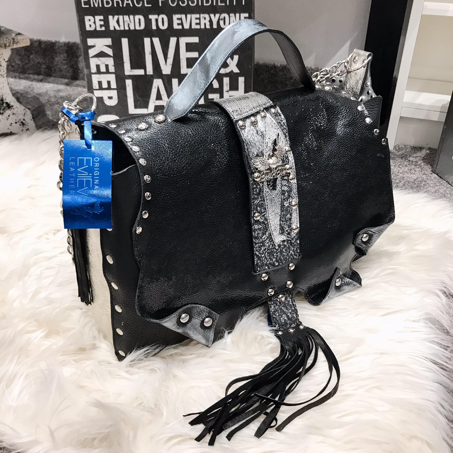 unique leather bag Sugarcube Laptop EvilEve